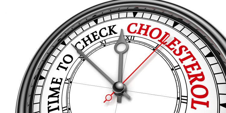 Time To Check Cholesterol Level Alarming Message On Concept Cloc